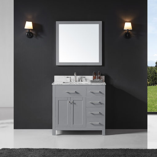 "Colette 36"" Taupe Grey Vanity"