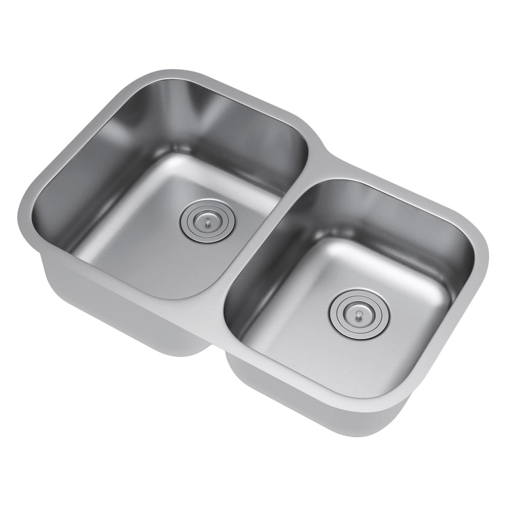 Exclusive Heritage 32 X 21 Double Bowl 60 40 Undermount Stainless Steel Kitchen Sink With