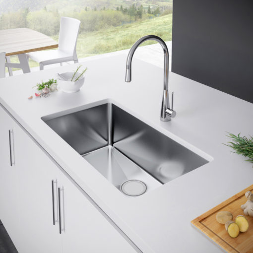 Exclusive Heritage 30u2033 x 18u2033 Single Bowl Undermount Stainless Steel Kitchen Sink KSH-3018-S-UB & 30 Inches u2013 Exclusive Heritage USA