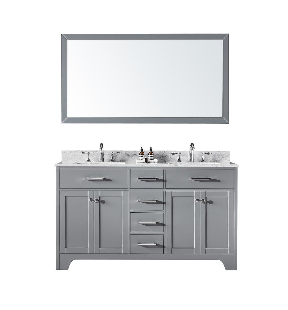 Exclusive Heritage Clariette 60″ Double Sinks Bathroom Vanity in ...