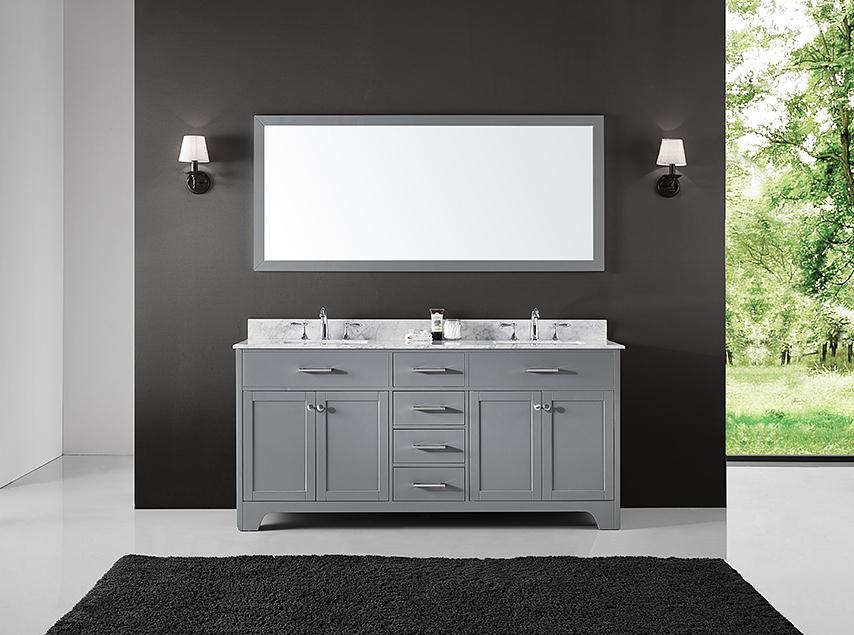 Exclusive Heritage Clariette 72 Double Sinks Bathroom Vanity In