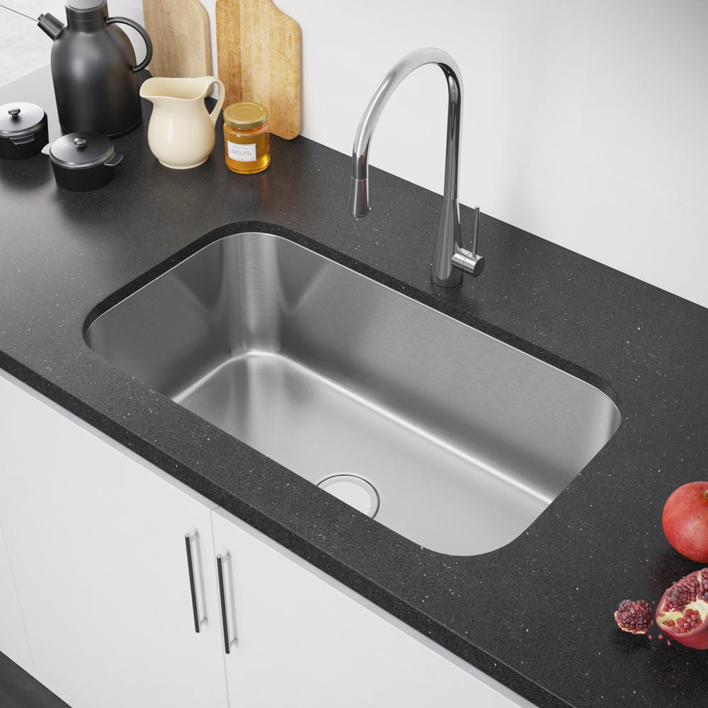 Exclusive Heritage 32u2033 x 19u2033 Single Bowl Undermount Stainless Steel Kitchen  Sink KSD-3219-S-UB u2013 Exclusive Heritage USA