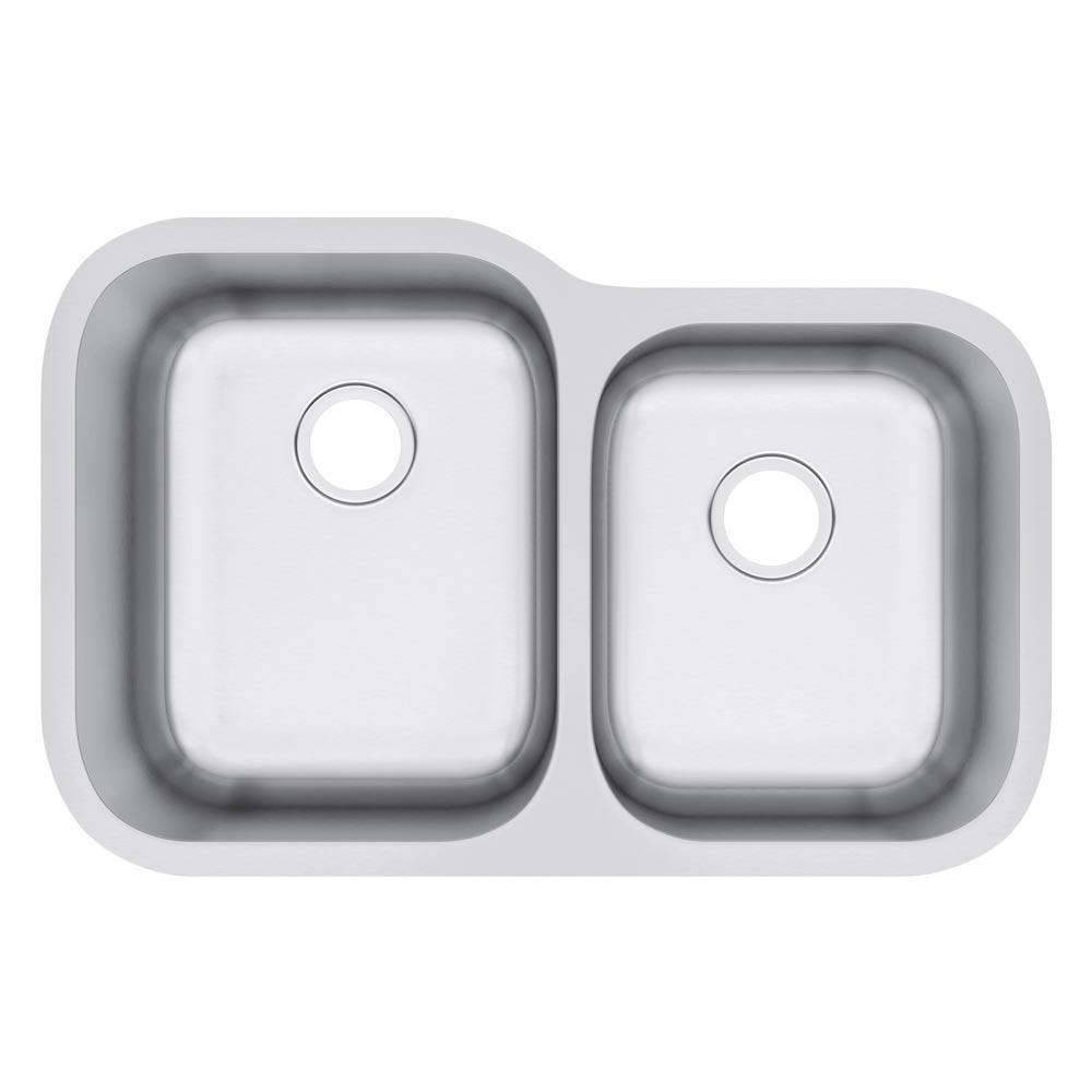 Exclusive Heritage 32u2033 X 21u2033 Double Bowl 60/40 Undermount Stainless Steel  Kitchen Sink KSD 3221 D6 UB U2013 Exclusive Heritage USA