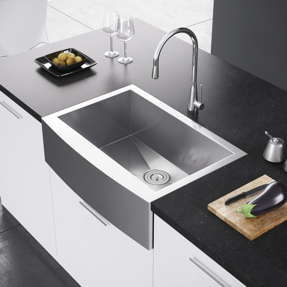 Apron Sink Vintage Apron And Custom: Exclusive Heritage 30″ X 21″ Single Bowl Stainless Steel