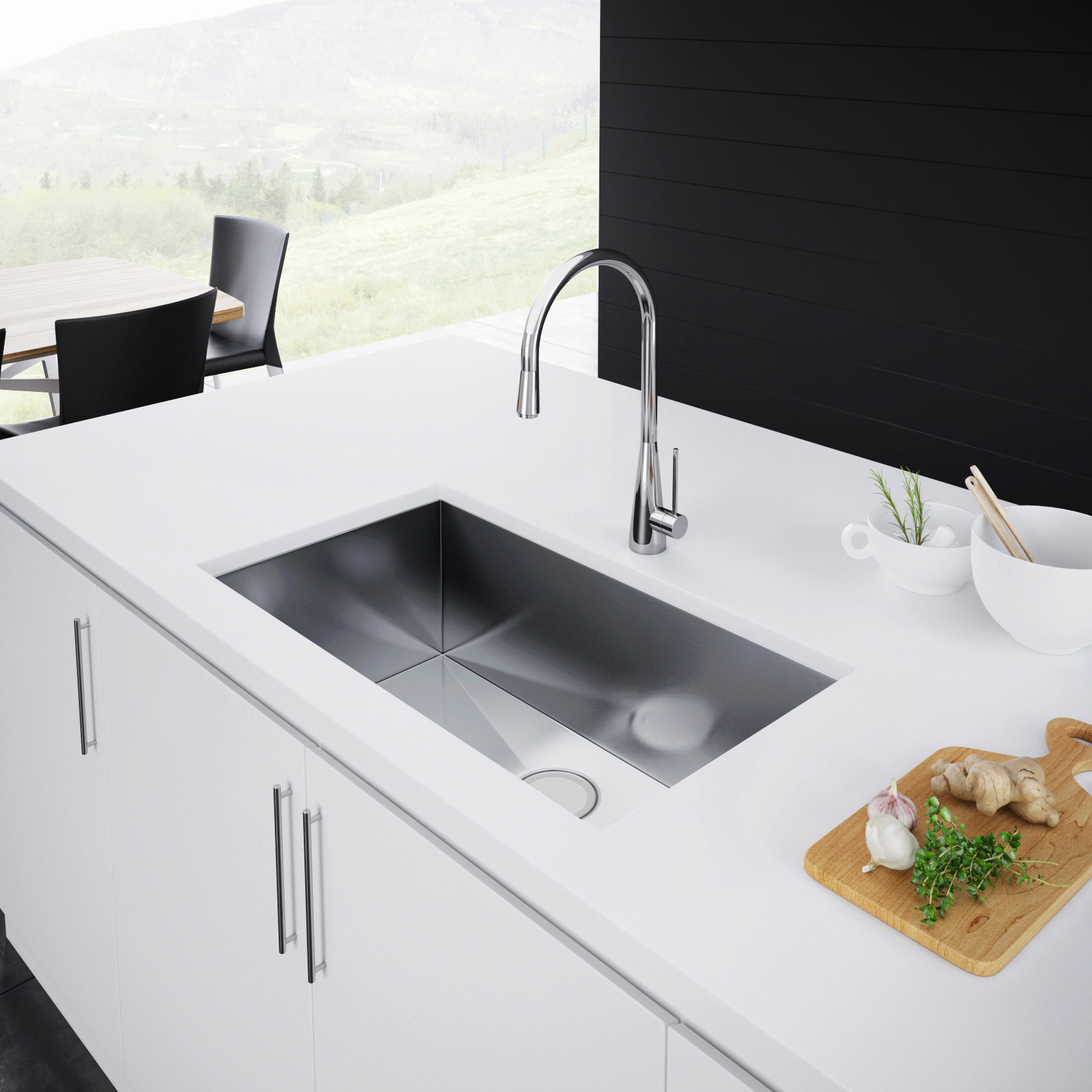Exclusive Heritage 33 X 19 Single Bowl Undermount Stainless Steel
