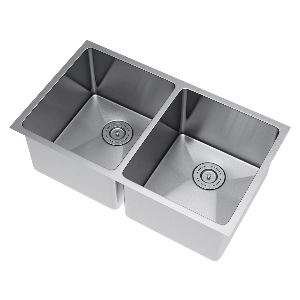 Exclusive Heritage 33 X 20 Double Bowl 50 50 Undermount Stainless Steel Kitchen Sink With