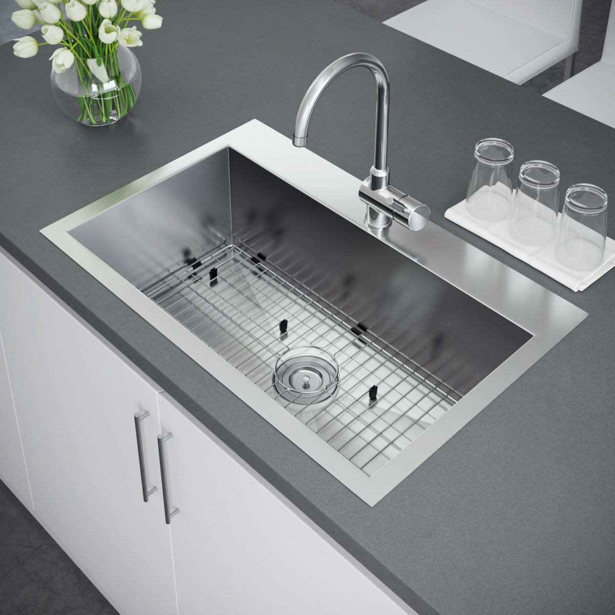 topmount kitchen sink exclusive heritage 33 x 22 single bowl topmount 2866