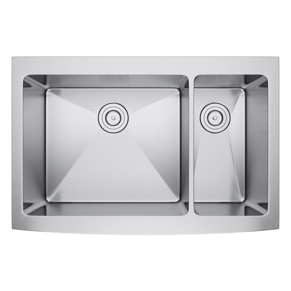 Exclusive Heritage 36″ x 22″ Double Bowl 70/30 Stainless Steel ...